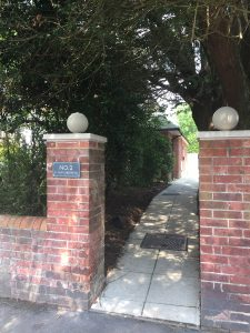 Entrance to therapy room